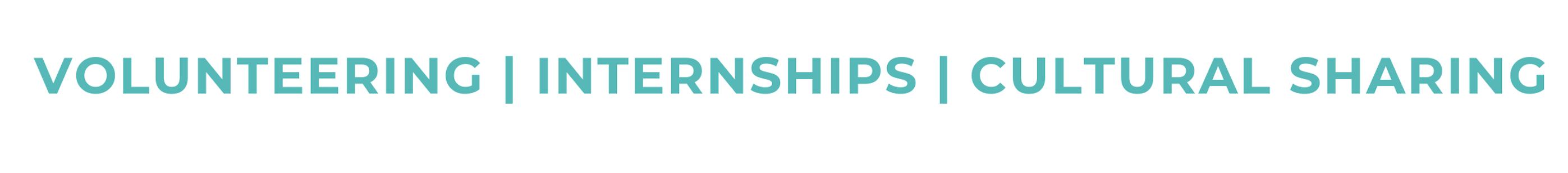 Volunteering | internships | cultural sharing at inter cultural education